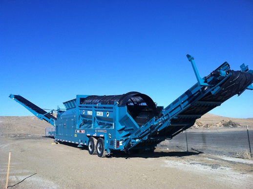 mobile trommel screen